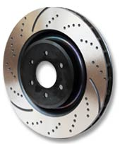 EBC Brakes GD Drilled and Slotted Sport Rear Rotor Volvo 850 2.4L 93-09