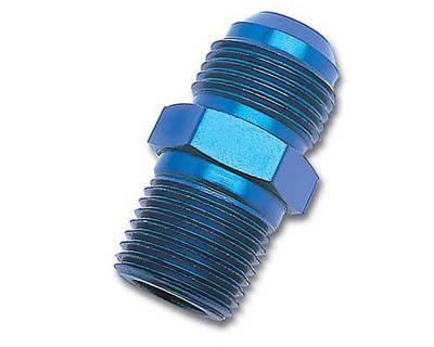 Edelbrock 3AN-1/8 NPT Straight Blue - 76520