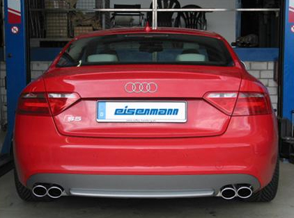 Eisenmann Stainless Axleback Exhaust 4x83mm Round Tips Audi S5 4.2L Quattro 08-16 - A1226.00835