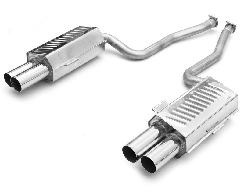 Eisenmann Stainless Axleback Exhaust 4x83mm Round Tips BMW 850ci 5.4L 95-99 - B5241.00831