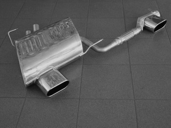 Eisenmann Stainless Axleback Exhaust 2x160x80mm Oval Tips BMW Z4 OEM Valence 06-08 - B5264.01602