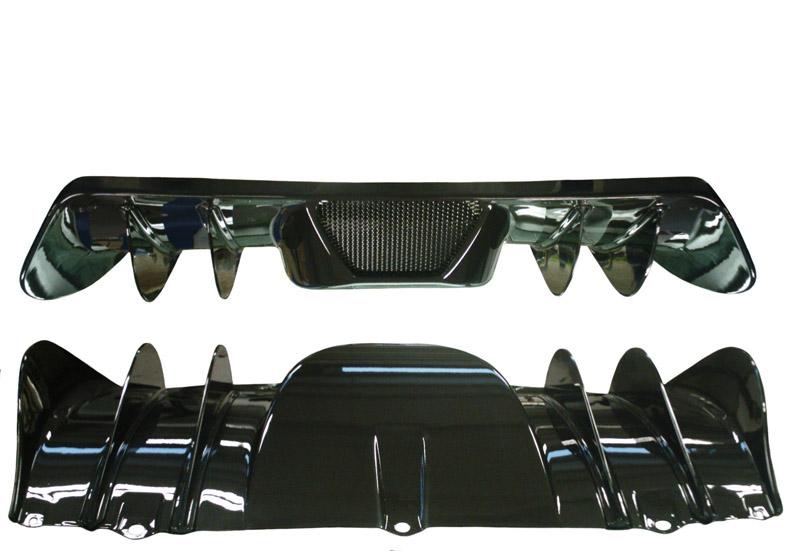 Elite Carbon Fiber Rear Diffuser w/ Fins Ferrari F430 04-09 - Exo430rdf