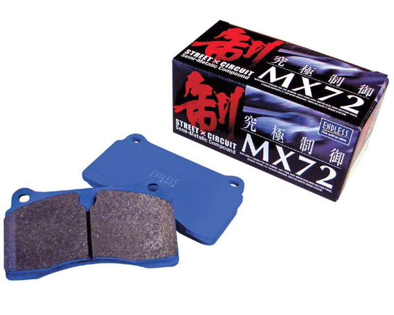 Endless MX72 Ceramic Carbon Brake Pads Rear Honda Del Sol Si without ABS 94-96 - EP 210 MX72 R