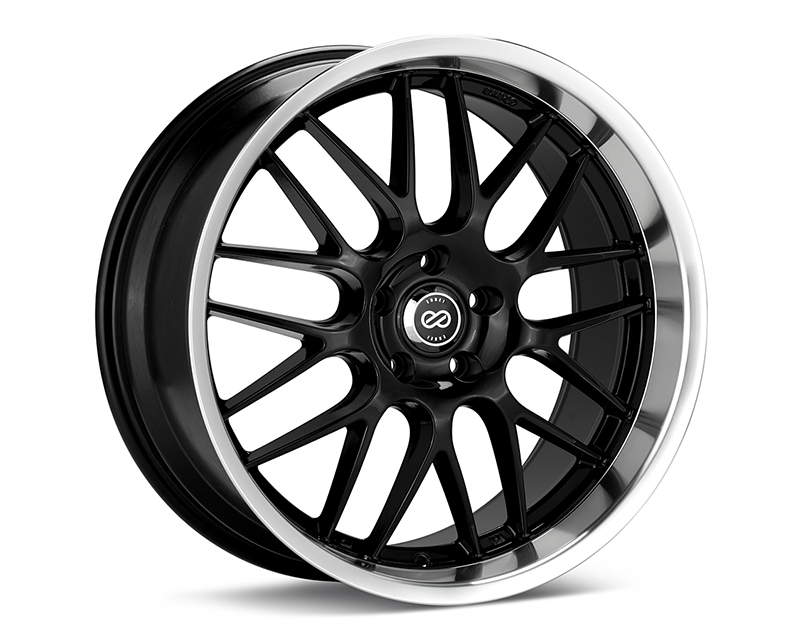 Enkei LUSSO Wheel Performance Series Black w/ Machined Lip 18x7.5 5x114.3 42mm - 469-875-6542BK