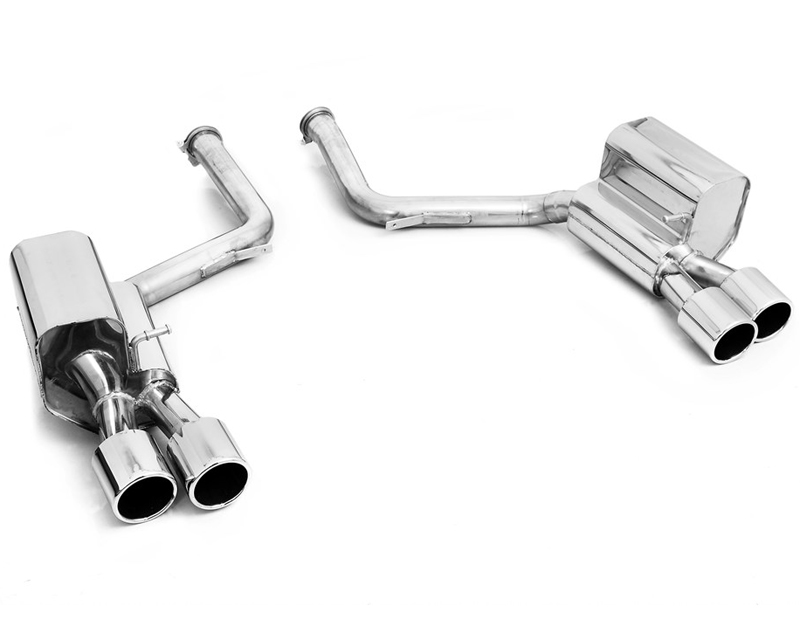 Eisenmann Stainless Axleback Exhaust 4x100mm Round Tips Porsche 970 Panamera S | Turbo 10-17 - P970.21005