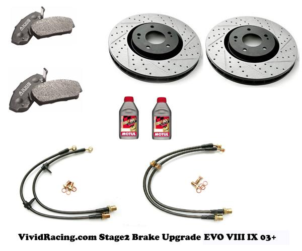VR Stage 2 Brake Upgrade Mitsubishi EVO XIII IX - VR-BRK-EVO2