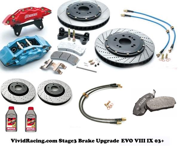VR Stage 3 Brake Upgrade Mitsubishi EVO VIII IX - VR-BRK-EVO3