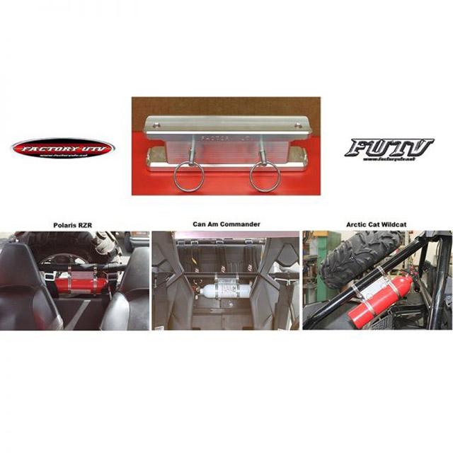 Factory UTV Billet Fire Extinguisher Roll Cage Mount Can-Am Defender Max 08-19 - FireExtMt
