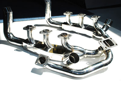 Fabspeed Headers with Heat with Hardware and Gaskets Porsche 964 Turbo 965 Sport 90-94 - FS.POR.964T.SHDRWH