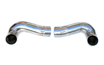 Fabspeed Side Muffler Bypass Pipes|Polished Chrome Porsche 997.2 Carrera 09-11 - FS.POR.9972.SMBP