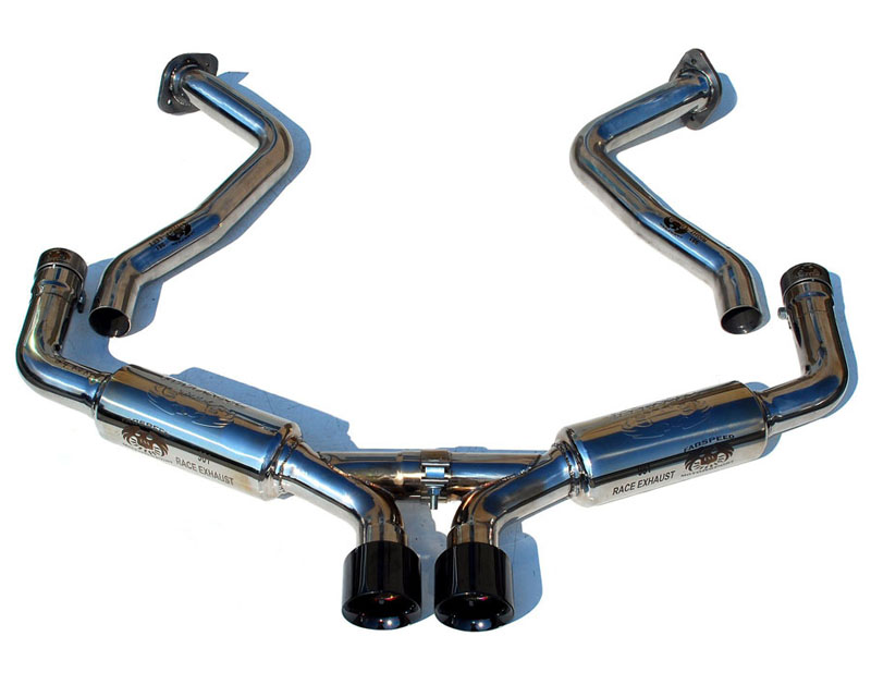 Image of Fabspeed Supercup Race Exhaust System With Black Chrome Tips Porsche 981 Boxster 13-14 Cayman 981 2014