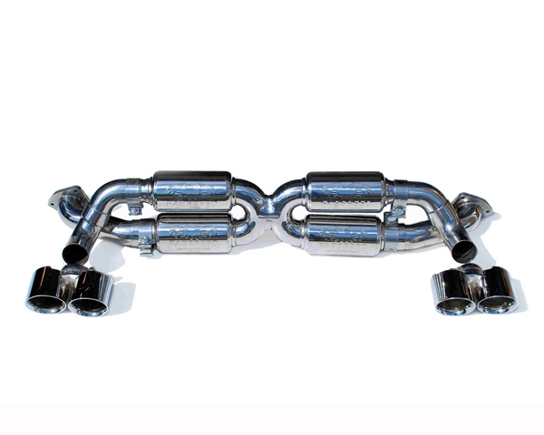 Fabspeed X-Pipe Exhaust System with Tips|Polished Chrome Porsche 991 Carrera Supersport 12-16 - FS.POR.991.SSXP
