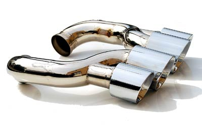 Fabspeed Deluxe Quad Style Tips|Polished Chrome Porsche 957 Cayenne Turbo 07-10 - FS.POR.957T.QDTP