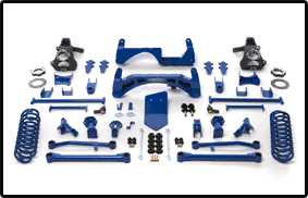 Fabtech 6in Basic Lift System Chevrolet Avalanche 4WD 07-08 - K1019