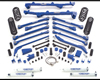 Fabtech 6in Long Arm System Front 2.5 Coilovers Jeep Wrangler LJ Unlimited 04-06