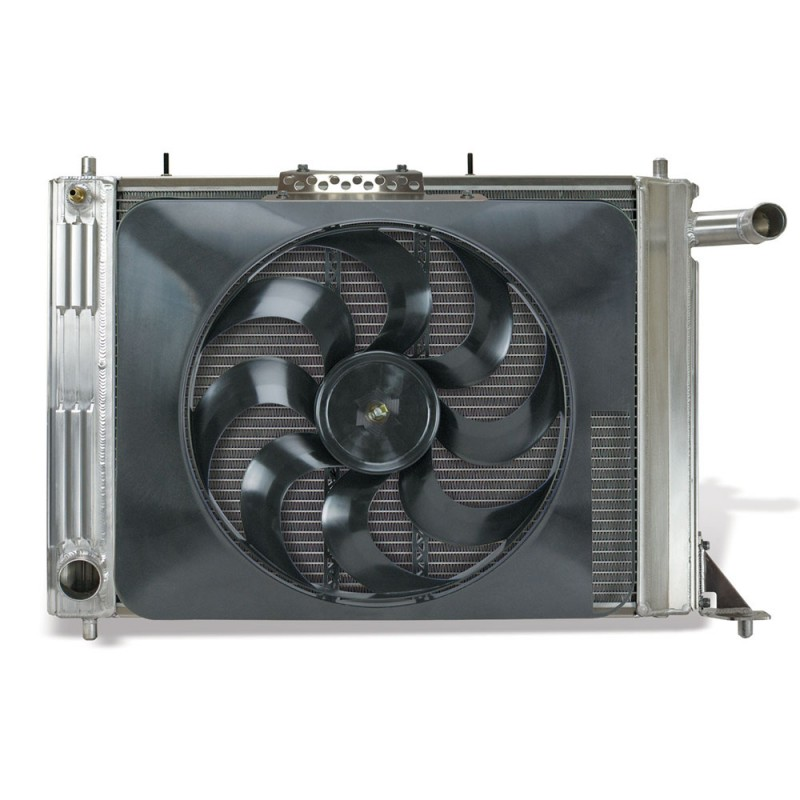 Image of Flex-A-Fit Aluminum Radiator with Electric Fan for Ford Mustang 97-04