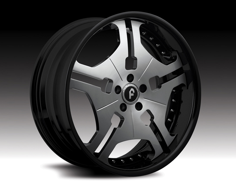 Forgiato Fia 21x9.5 5x100 Satin Silver Black Lip - FRG-FIA-2195-5100