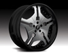 Forgiato Fia 20x7.5 5x100 Satin Silver Black Lip