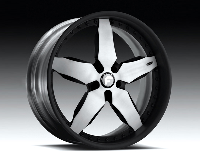 Forgiato Fiocco 22x10.5 5x120 Satin Silver Black Lip - FRG-FIO-2215-5120