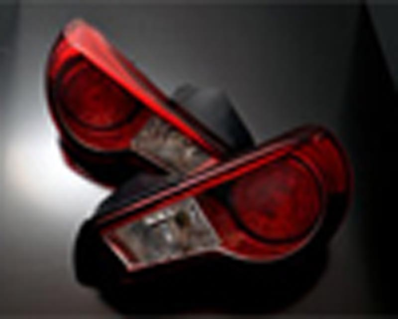 Image of Grazio Co. Red Tinted Taillight Set Subaru BRZ Scion FR-S Toyota GT-86 13