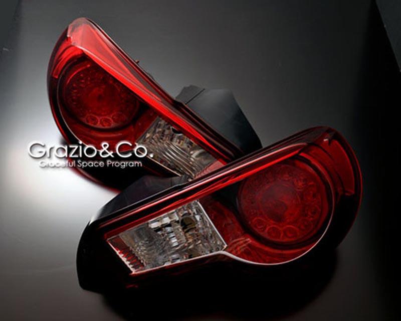 Grazio & Co. Red Tinted Taillight Set Subaru BRZ / Scion FR-S / Toyota GT-86 13-18 - GRAZ-86-RTL