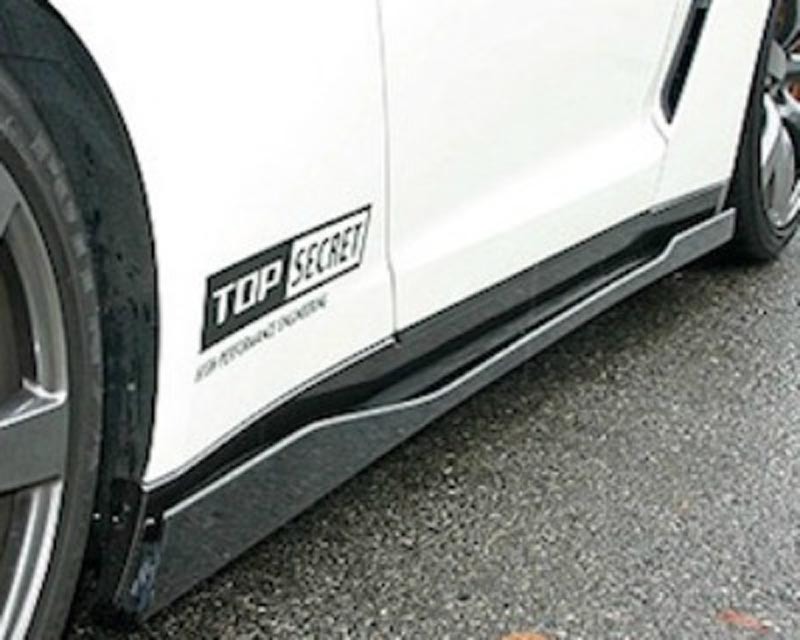 Image of Top Secret Carbon Fiber Side Skirts Nissan GT-R R35 09