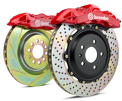 Brembo GT 14.9 Inch 4 Piston 2pc Rear Brake Kit Drilled Chevrolet Corvette C6 05-13