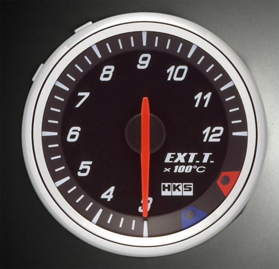 HKS RS DB Exhaust Temp Meter 60mm Electronic Black