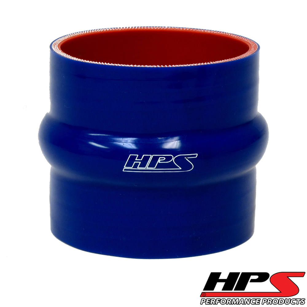 Image of HPS 1.25inch 25mm 4-ply Reinforced Hump Coupler Silicone Hose Blue