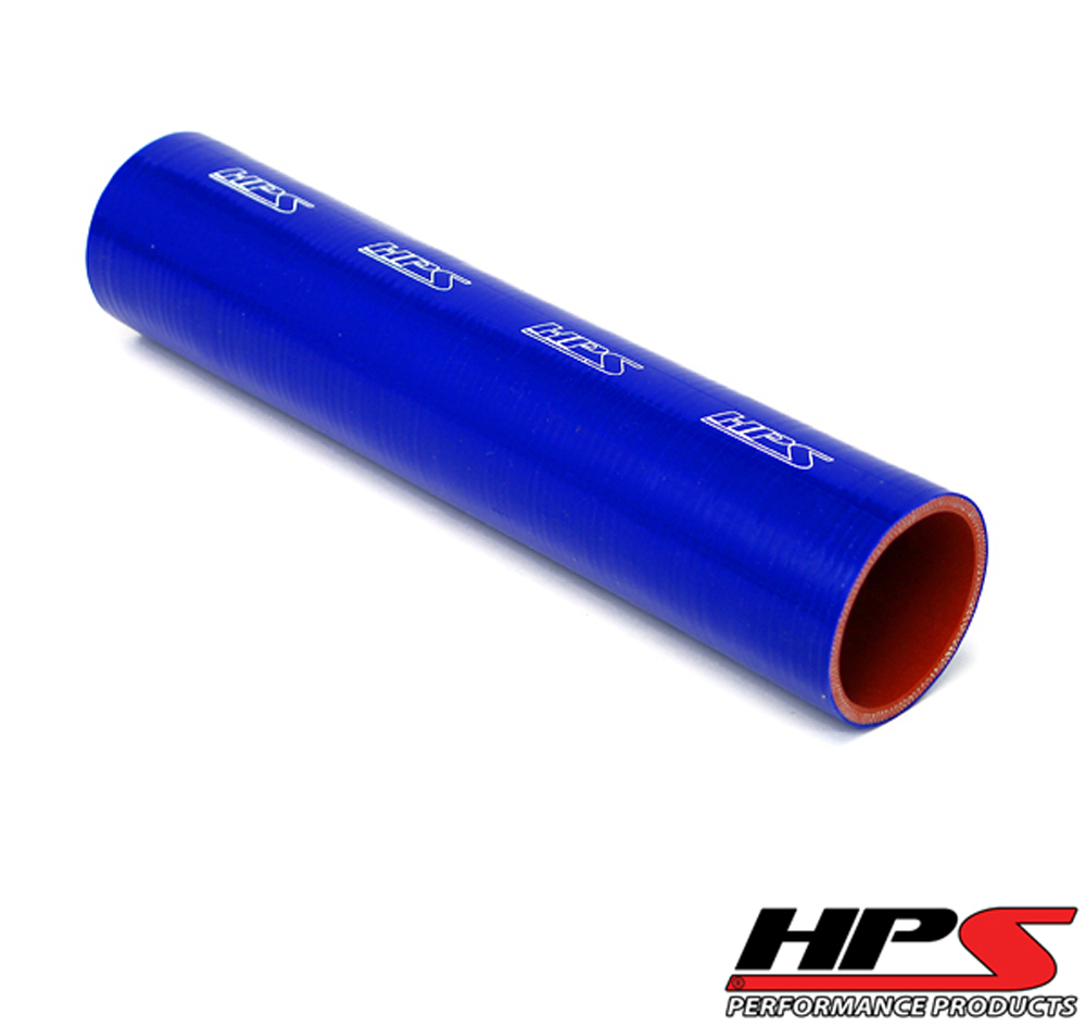 Image of HPS 1.25inch 32mm 4-ply Reinforced 1 Foot Tube Coupler Silicone Hose Blue