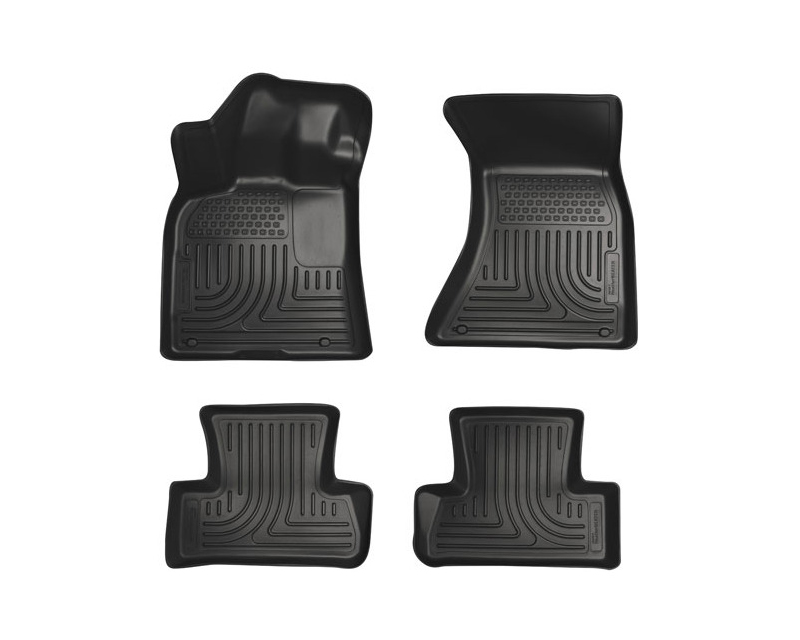 Husky Liners Front & 2nd Seat Floor Liners Weatherbeater Series Black Audi A6 12-14