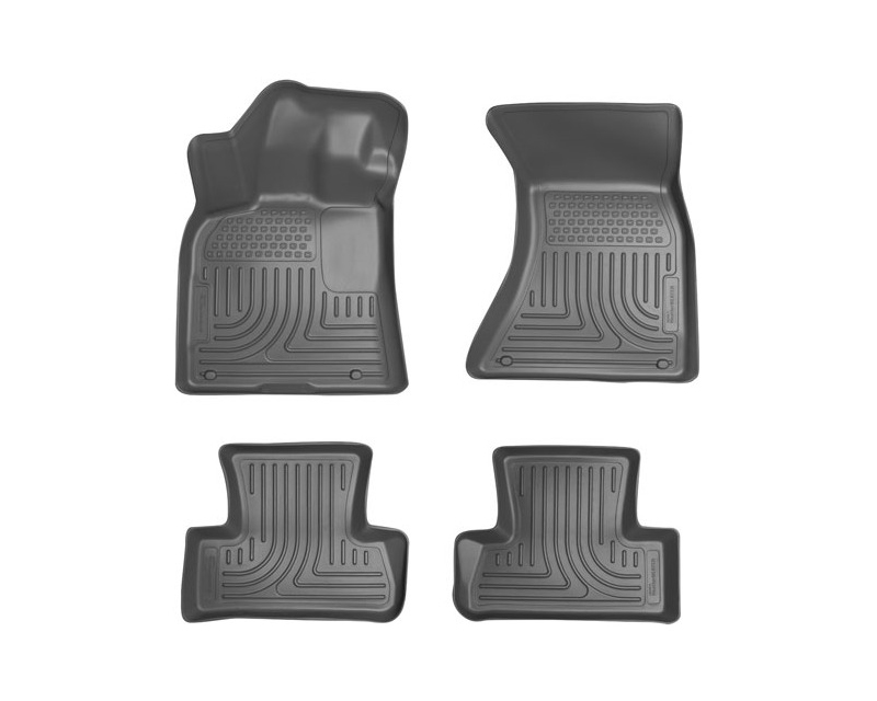 Husky Liners Front & 2nd Seat Floor Liners Weatherbeater Series Grey Audi A6 12-14