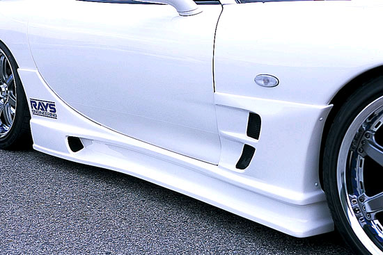 INGS N-Spec Side Skirts Hybrid Mazda RX-7 10/91-4/03 - 00104-00201