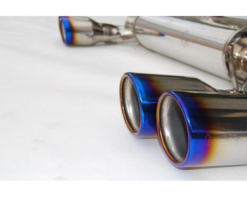 Invidia Q300 Catback Exhaust Rolled Titainum Tips Subaru STI 08-12 - HS08STIG3T