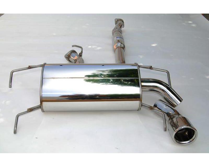 Invidia Q300 Catback Exhaust Rolled Stainless Steel Tip Subaru WRX Hatchback 08-10 - HS08SW5GT3