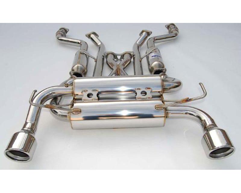 Invidia Gemini Catback Exhaust Rolled Stainless Steel Tips Infiniti G35 Coupe 03-06 - HS03IG3GIS