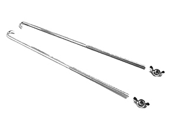 Image of Braille 10 inch J-Hooks for Batteries Under 5 Inches Tall