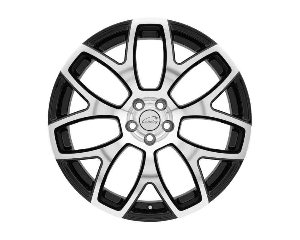 Coventry Ashford Gloss Black w/ Mirror Cut Face Wheel 20x10.5 5x108 5x4.25 25mm CB63.4 - 2005COA255108B63