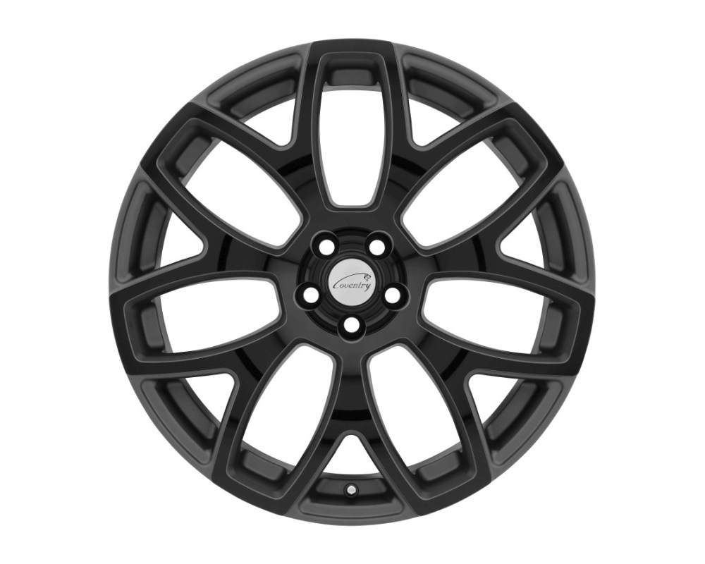 Coventry Ashford Wheel 18x8.5 5x108|5x4.25 35mm Gloss Gunmetal w/ Gloss Black Face - 1885COA355108G63