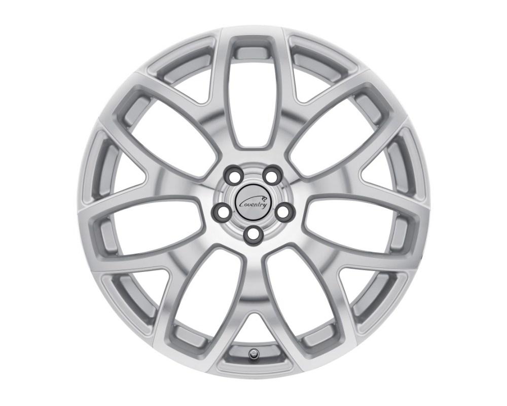 Coventry Ashford Wheel 20x10.5 5x108|5x4.25 25mm Silver w/ Mirror Cut Face - 2005COA255108S63