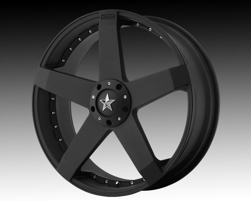 Image of KMC Wheels Rockstar Car Wheels 20x10 5x120 35