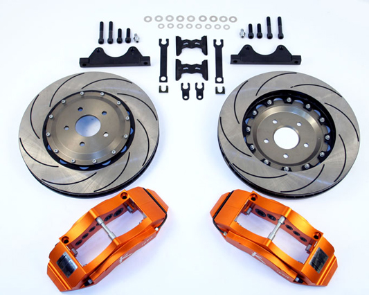 Ksport SuperComp 8 Piston 400mm Front Big Brake Kit Honda Civic DX LX CRX 88-91 - BKHD020-961SO