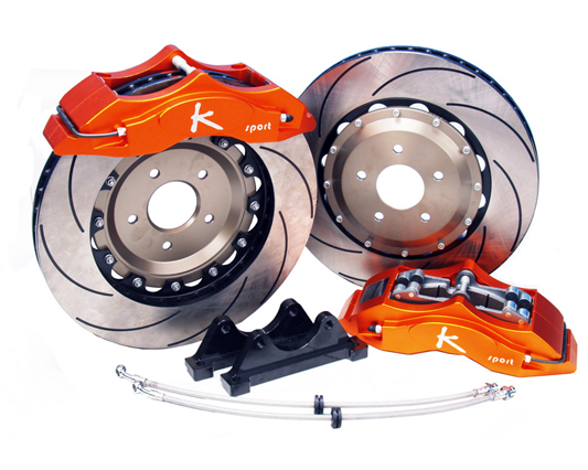 Ksport SuperComp 8 Piston 400mm Front Big Brake Kit Toyota Yaris 06-11 - BKTY320-961SO