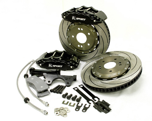 Ksport ProComp 6 Piston 286mm Front Big Brake Kit Honda Civic EX LX With Rear Disc Si With ABS 92-95 - BKHD021-611SO