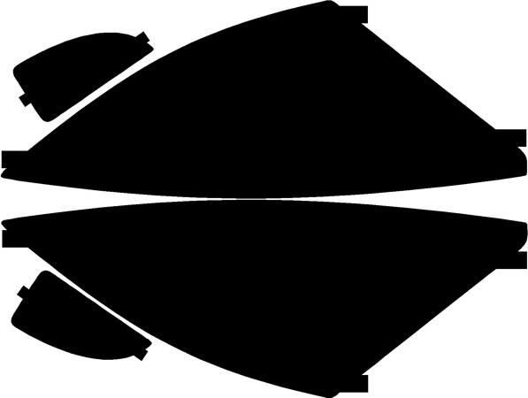 Lamin-X Protective Film Headlight and Foglight Covers Ford Focus 2000-2004 - F301