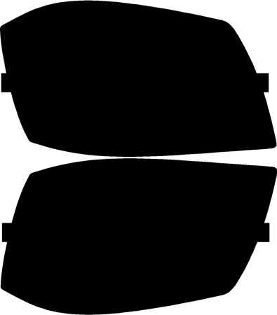 Lamin-X Protective Film Headlight and Foglight Covers Dodge Magnum 2005-2008 - D006