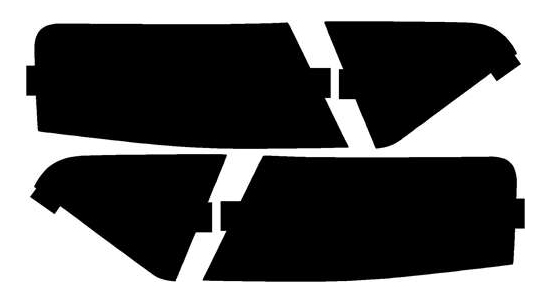 Lamin-X Protective Film Tail Light Covers Audi A5 2008-2016 - A219