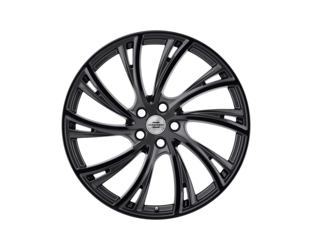 Redbourne Noble Wheel 20x9.5 5x120 32mm Gloss Gunmetal w/ Gloss Black Face Left - 2095RDB325120B72L