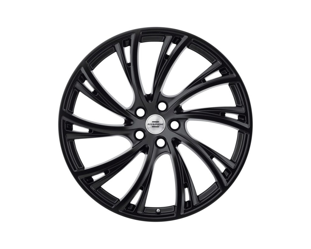 Redbourne Noble Wheel 20x9.5 5x120 32mm Double Black - Matte Black w/ Gloss Black Face Right - 2095RDB325120D72R