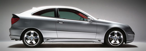 Lorinser Left Side Skirt Mercedes-Benz C230 Coupe 01-07 - 488 1209 10